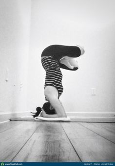 #Yoga Poses Around the World: Headstand taken in Dallas, United States by Jackie P.