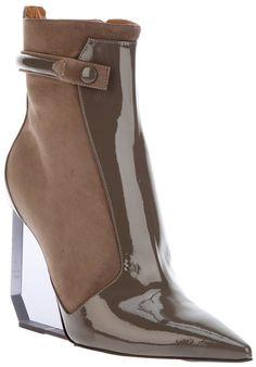 Pollini perspex heel boot