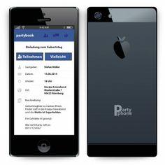 #Einladungskarten als #Smartphone. Mit eigenem Text. Auf http://www.kartenmachen.de/shop/einladungskarte-als-smartphone-233.html  Ähnlich wie ein #apple #iphone