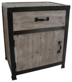 American country furniture, wrought iron nightstand retro to do the old wood corner cabinet drawer storage cabinets lockers #Affiliate