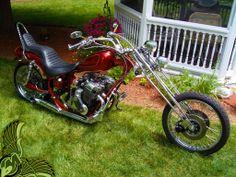 radical old school chopper - bikerMetric Chopper Motorcycle, Bobber Chopper, Motorcycle Garage, Mini Chopper, Custom Choppers, Custom Bikes, Custom Motorcycles, Custom Bobber, Custom Baggers