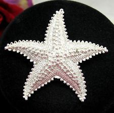 STARFISH Star Fish BROOCH Vintage Silvertone PIN Beach, Summer Costume Jewelry on ebay. MrZipMDO