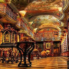 I have a slight obsession with libraries   The National Library Of Prague, Prague, Czech Republic