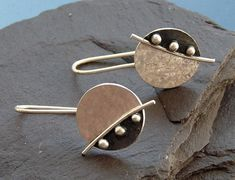 151ef906a Sterling silver earrings. Silver disc earrings. Silver jewellery.  Handcrafted jewellery. Drop earrings. Gift for her. Birthday gift.