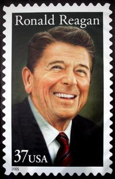 Ronald Reagan 2005 U. Postal Service issued a Ronald Reagan commemorative stamp on February (Ronald Reagan was just what the doctor ordered for America back in the need another one just like him to come along about now. 40th President, President Ronald Reagan, American Presidents, Us Presidents, American History, Nancy Reagan, Commemorative Stamps, Vintage Stamps, Rare Stamps