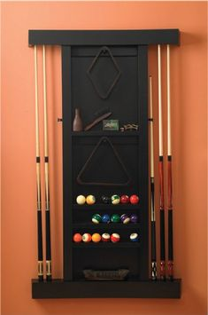 14 Best Wood Projects Pool Stick Rack Images Pool