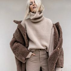 Uploaded by Yousra. Find images and videos about fashion, outfit and mode on We Heart It - the app to get lost in what you love. Latte, Go To New York, Inspiration Mode, Monochrom, High Collar, Head To Toe, Editorial Fashion, Winter Outfits, Acne Studios