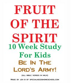fruit of spirit for kids | fruit of the spirit bible study for kids and tweens
