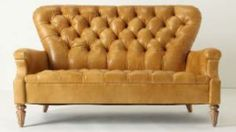 Anthropologie Battersea Sofa tufted leather settee - $2500
