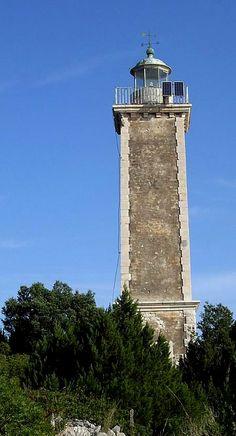 The Victorian lighthouse..  Kefalonia Island, Greece