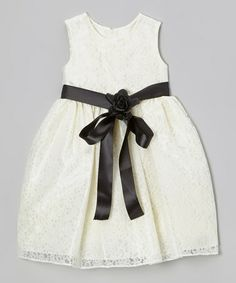 Loving this Ivory Lace Dress - Toddler & Girls on #zulily! #zulilyfinds