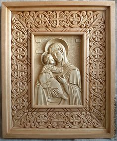 Religious Icons, Religious Art, Famous Sculptures, Christian Artwork, Engraving Art, 3d Cnc, Byzantine Art, Art Carved, Carving Designs