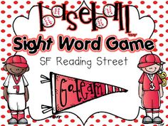 Take me out to the ball game! I know that it should be TURKEY TIME, but I just had to make something with this adorable baseball set from . Reading Street Kindergarten, Kindergarten Sight Word Games, Sight Word Activities, Teaching Reading, Teaching Ideas, Learning, Sight Word Practice, Sight Words, Word Study