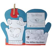 make mitten from a file folder and have kids decorate the front- then cut out animals and glue them inside- so cute!