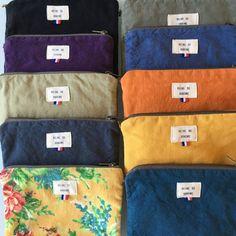 ÉLÉONORE, la pochette en coton recyclé bleu jean - Reine de Bohème