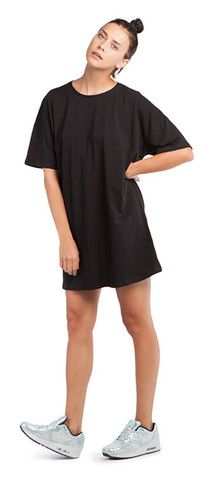 BLACK T-DRESS Shirt Dress, T Shirt, Projects, Shopping, Collection, Black, Dresses, Fashion, Supreme T Shirt