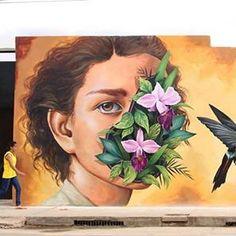 "Zelva, ""NÉCTAR/ New wall on human interiorization"" in Moyobamba, Perú, 2017"