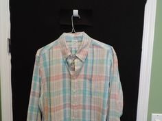 Brooks Brothers Classic 100% Irish Linen Multi Color Plaid Shirt SZ XL Mint  #BrooksBrothers #ButtonFront