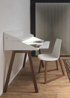 Wooden secretary desk BUREAU by HORM.IT