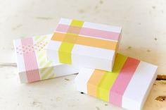Cute little packages decorated with Washi Tape