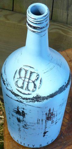 Decorative Wine or Liquor Bottle by Kreativactivity on Etsy, $10.00