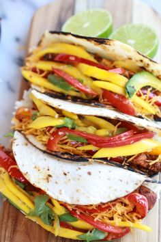 Gorgeous!! Easy Chicken Fajitas with Thai Mango Slaw and Coconut Rice via Half Baked Harvest #healthy #clean