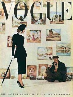 Vintage Vogue magazine covers - mylusciouslife.com - Vintage Vogue UK March 1948.jpg