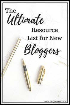 Ultimate Resource List New Bloggers