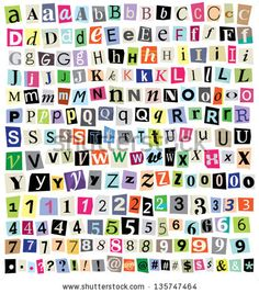 The colorful word social media in cut out magazine letters by over 200 vector cut newspaper and magazine letters numbers symbols mixed uppercase spiritdancerdesigns Choice Image