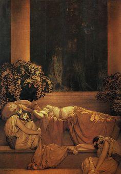 Maxfield Parrish,Sleeping Beauty, 1912