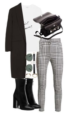 """Untitled #401"" by sineadelhardt ❤ liked on Polyvore featuring Balmain, Yves Saint Laurent, Alexander Wang, Proenza Schouler, raen and Daniel Wellington"