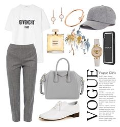 """Grey"" by pitaa29 on Polyvore featuring Givenchy, Piazza Sempione, Repetto, American Needle, Versace, Cartier, Anne Sisteron and Chanel"