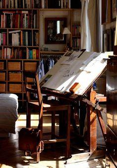 art studio/library