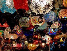 Indian and Turkish lamps Turkish Lanterns, Turkish Lamps, Gardening Zones, Gardening Tips, Bed Lights, Candle Lanterns, Paper Lanterns, Bohemian Decor, Boho