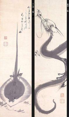 伊藤 若冲 Ito Jakuchu : えい図