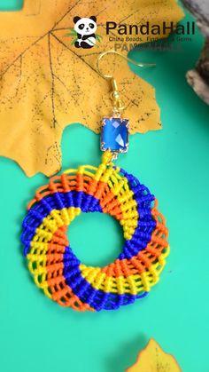 Diy Schmuck, Schmuck Design, Textile Jewelry, Beaded Jewelry, Macrame Jewelry Tutorial, Cute Doodle Art, Jewelry Crafts, Earrings Crafts, Wire Jewelry Making
