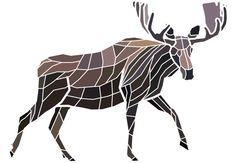 Mosaic Moose  Artwork