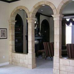 Bendable stone tile - This stuff is the bomb!  Perfect for my sunroom floor, the archway in the dining room & the columns & fireplace in the living room.  $10-$16 per sq ft.  min 5 sheets.