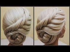 Прически.Обучение прическам.Красивые прически.Course on hairstyles.Beautiful hairstyles. - YouTube