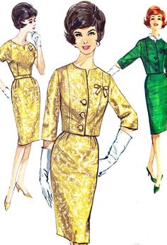1960s Dress Pattern Simplicity 4689 Womens Mad Men by paneenjerez, $14.00