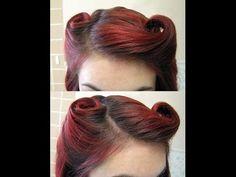 DIY Hair: Vintage 1940s Victory Rolls