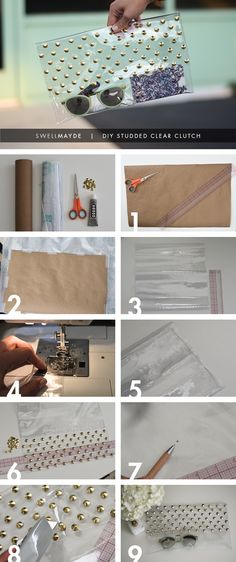 Swellmayde: DIY | Studded Clear See-through transparent clutch