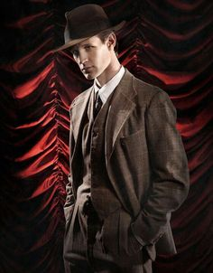 Matt Smith as a 20s gangster. (At least that's how it looks to me.)