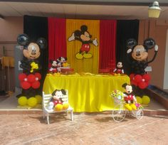 Theme Mickey, Mickey 1st Birthdays, Fiesta Mickey Mouse, Mickey Mouse Baby Shower, Mickey Mouse Clubhouse Birthday Party, Mickey Birthday, Mickey Mouse Backdrop, Mickey Mouse Party Decorations, Mickey Mouse Parties