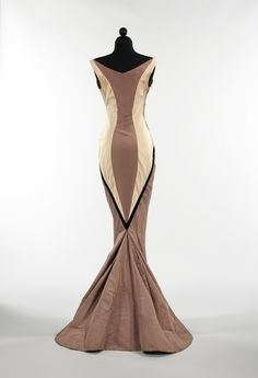 Charles James Diamond Gown Back 1957 Amazing shape,not loving the colors but hey it's from 1957...stunning!!!!