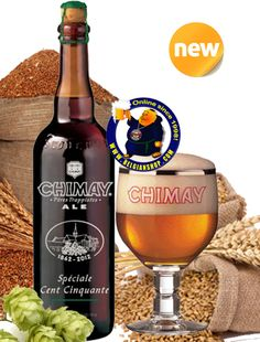 Our New Beer: Chimay 150 / Spéciale Cent Cinquante 10° Available at http://store.belgianshop.com/trappist-beers/1591-chimay-150-speciale-cent-cinquante-10-34l.html To celebrate the 150 years spent at the Abbey Of Scourmont, the Chimay Trappist brewery has developed this exceptional anniversary beer brewed specially for the occasion. Pours hazy orange with ...