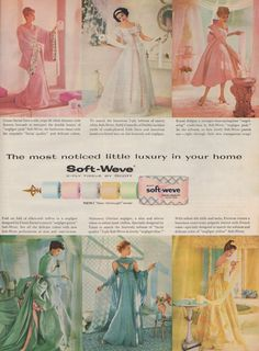 Lovely toilet paper ad - again, color-coordinated. I can't laugh too much though my grandmother had a color-coordinated bathroom as well. And she kept it that way till her passing.