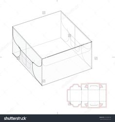 Special Square Box With Die Line Template Stock Vector Illustration 312458150 : Shutterstock