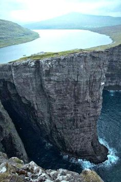 Lake Sorvagsvatn in the Faroe Islands.