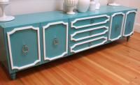 turquoise hollywood credenza, room service.com $2695